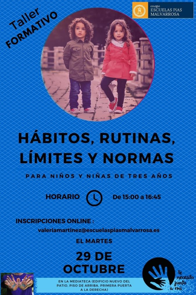 HÁBITOS, RUTINAS, LÍMITES Y NORMAS 2016